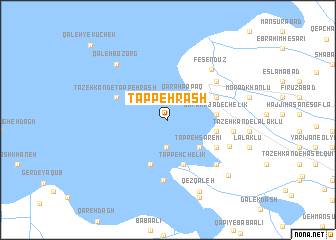 map of Tappeh Rash