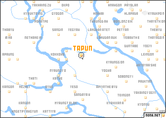 map of Tapun