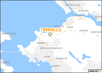 map of Tara Hills