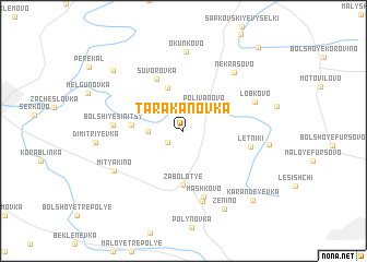 map of Tarakanovka