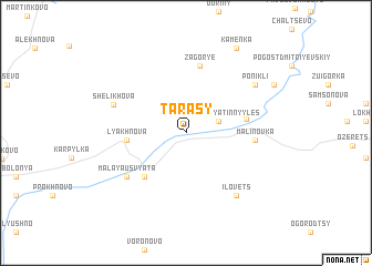 map of Tarasy