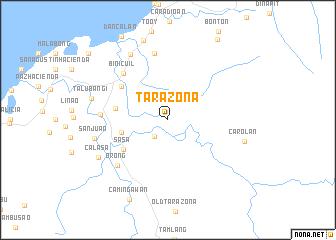 map of Tarazona
