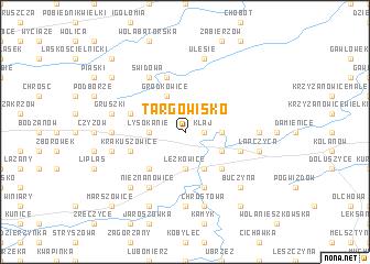 map of Targowisko