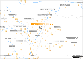 map of Ţarḩānī-ye 'Olyā