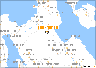 map of Tarkasáta
