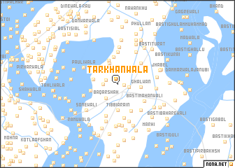 map of Tarkhānwāla