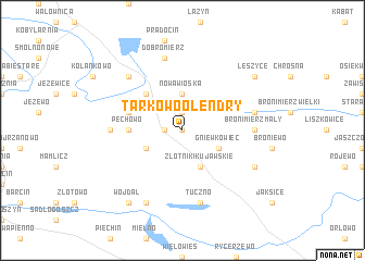 map of Tarkowo Olendry