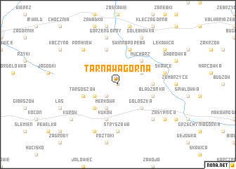 map of Tarnawa Górna