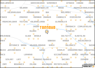 map of Tarnawa