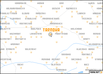 map of Tarnowa