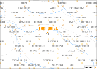 map of Tarnowiec