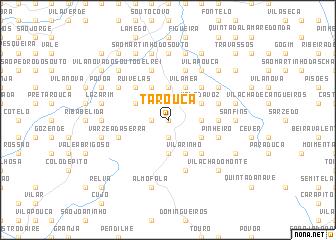 map of Tarouca
