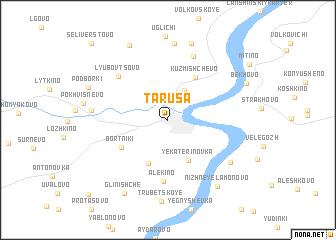 map of Tarusa