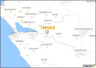map of Tarusin