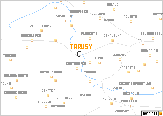 map of Tarusy