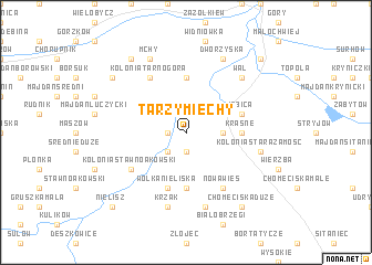 map of Tarzymiechy