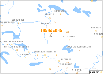 map of Tasajeras