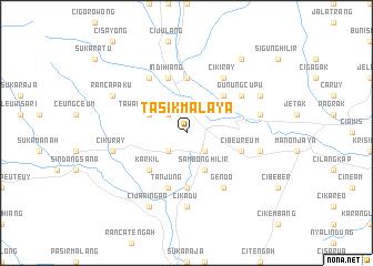 Tasikmalaya Indonesia map nonanet