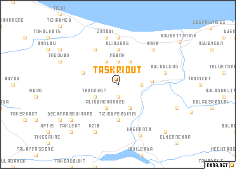 Taskriout Algeria Map Nonanet - Béjaïa map