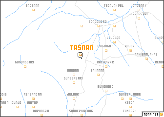 map of Tasnan