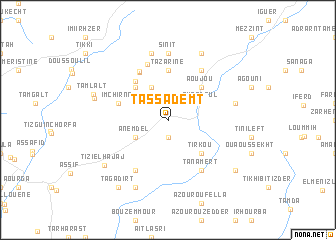map of Tassademt