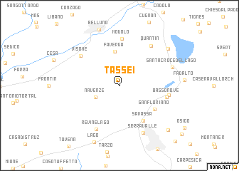 map of Tassei