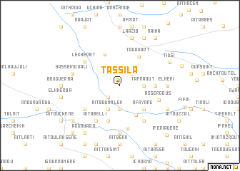 map of Tassila