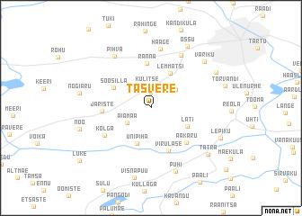 map of Täsvere