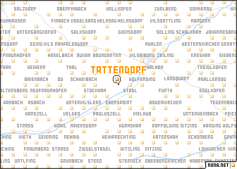 map of Tattendorf