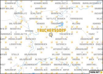 map of Tauchersdorf