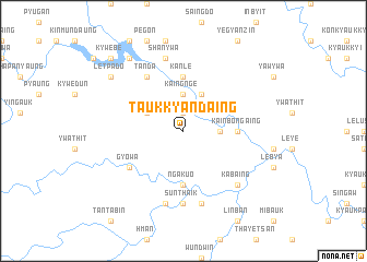 map of Taukkyandaing