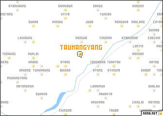 map of Taumangyang