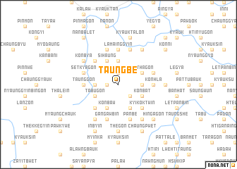 map of Taungbe