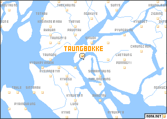 map of Taungbokke