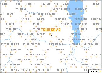 map of Taungbya