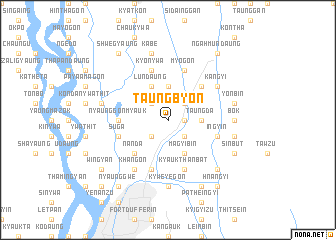 map of Taungbyon