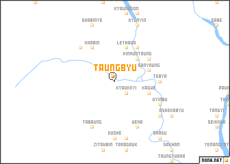 map of Taungbyu