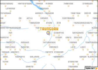 map of Taungdaw