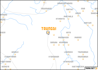 map of Taungdi