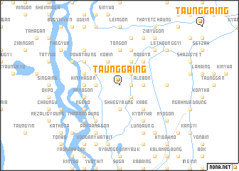 map of Taunggaing