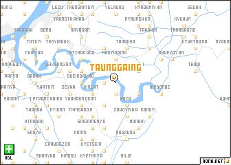 map of Taunggaing
