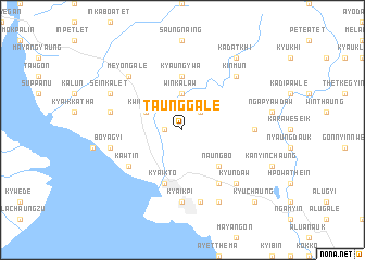 map of Taunggale