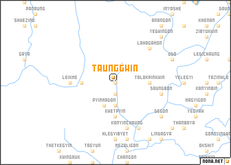 map of Taunggwin