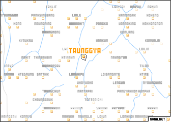 map of Taunggya