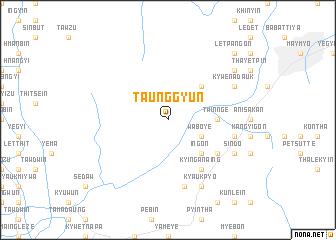 map of Taunggyun