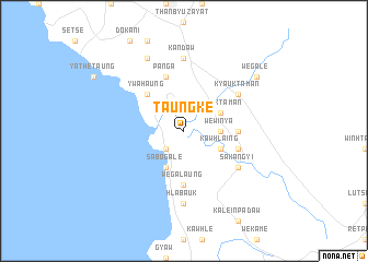 map of Taungke