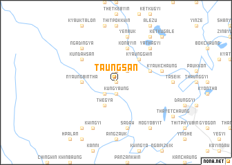 map of Taungsan
