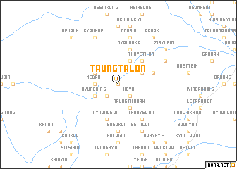 map of Taungtalôn