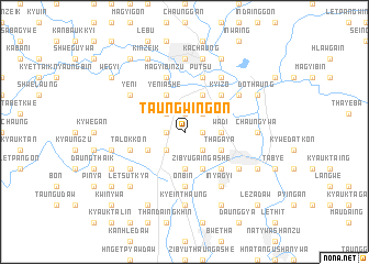 map of Taungwingon