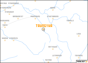 map of Taungywa